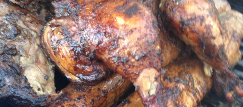How to make authentic Jamaican Jerk chicken using Pimento Wood